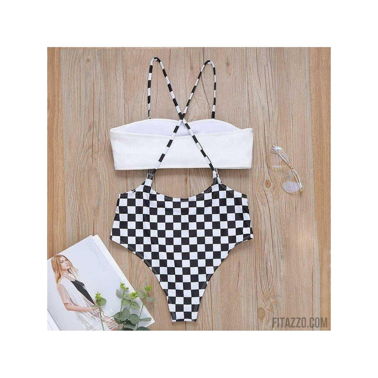 Checker Swimsuit ( Top sold separately )-Fitazzo