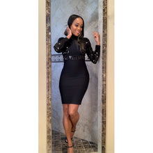 Black long sleeve dress-Fitazzo