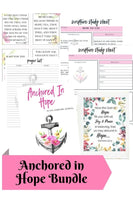 Anchored In Hope Scripture Journal