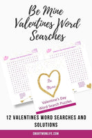 Be Mine Valentine's Word Searches