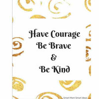picture regarding Have Courage and Be Kind Printable referred to as Gold Watercolor Printable Wall Artwork