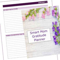 Smart Mom Gratitude Planner + Bonus 30-Day Gratitude Journal