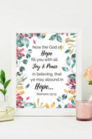 Hope Bible Verse Wall Art
