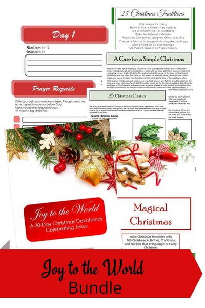 Joy to the World ~ A 30-Day Christmas Devotional Celebrating Jesus + Bonus copy of Magical Christmas