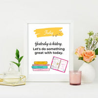 Kids Inspirational Wall Art {School Themed}