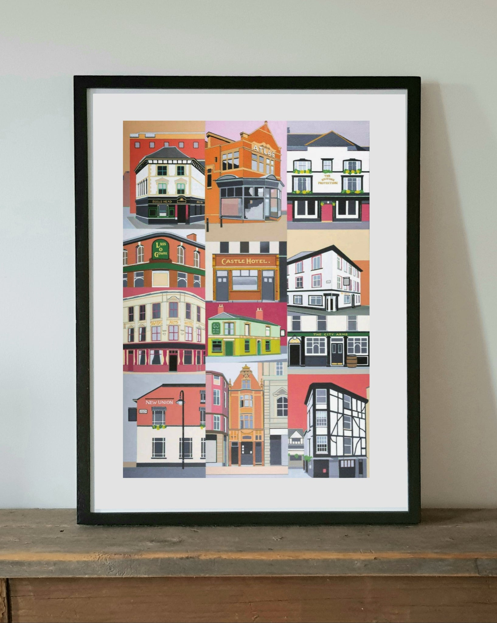 Manchester Pubs Framed Print by S L Scott