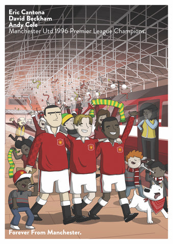 MUFC A3 Poster Artwork by James Chapman