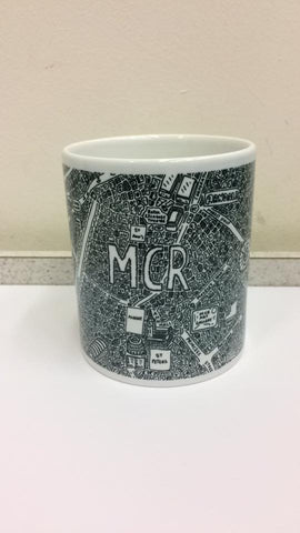 Manchester Doodle Map Mug by Dave Draws