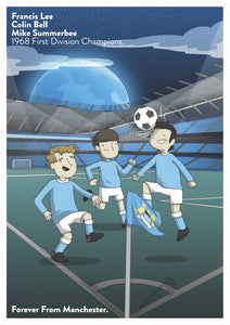 MCFC A3 Poster Artwork by James Chapman