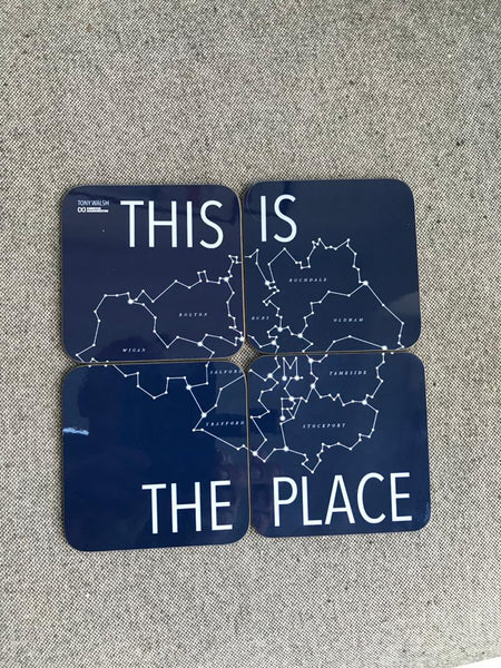 Set of 4 This is the Place coasters