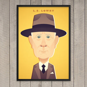 LS Lowry Print - Great Northerners by Stanley Chow