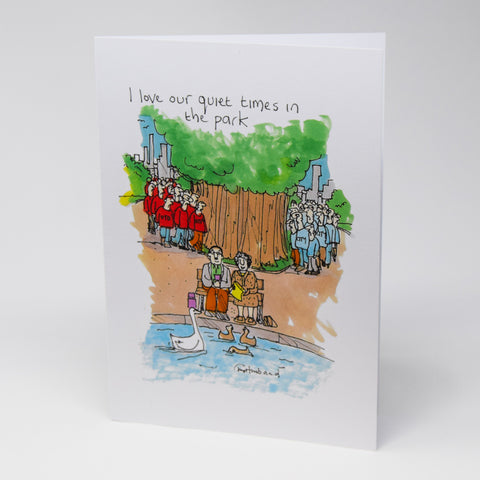 Peaceful Day in the Park Greetings Card