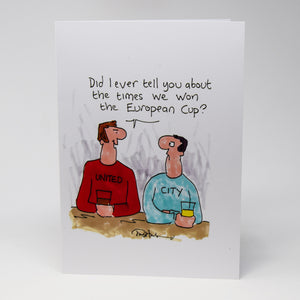 European Cup Greetings Card by Tony Husband