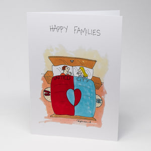 Happy Football Families Greetings Card by Tony Husband