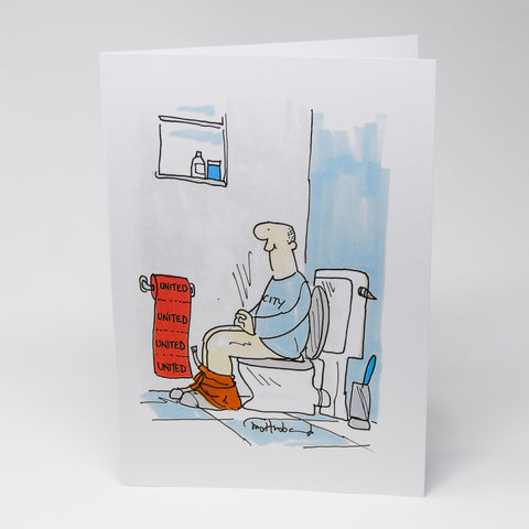 MUFC Toilet Paper Greetings Card
