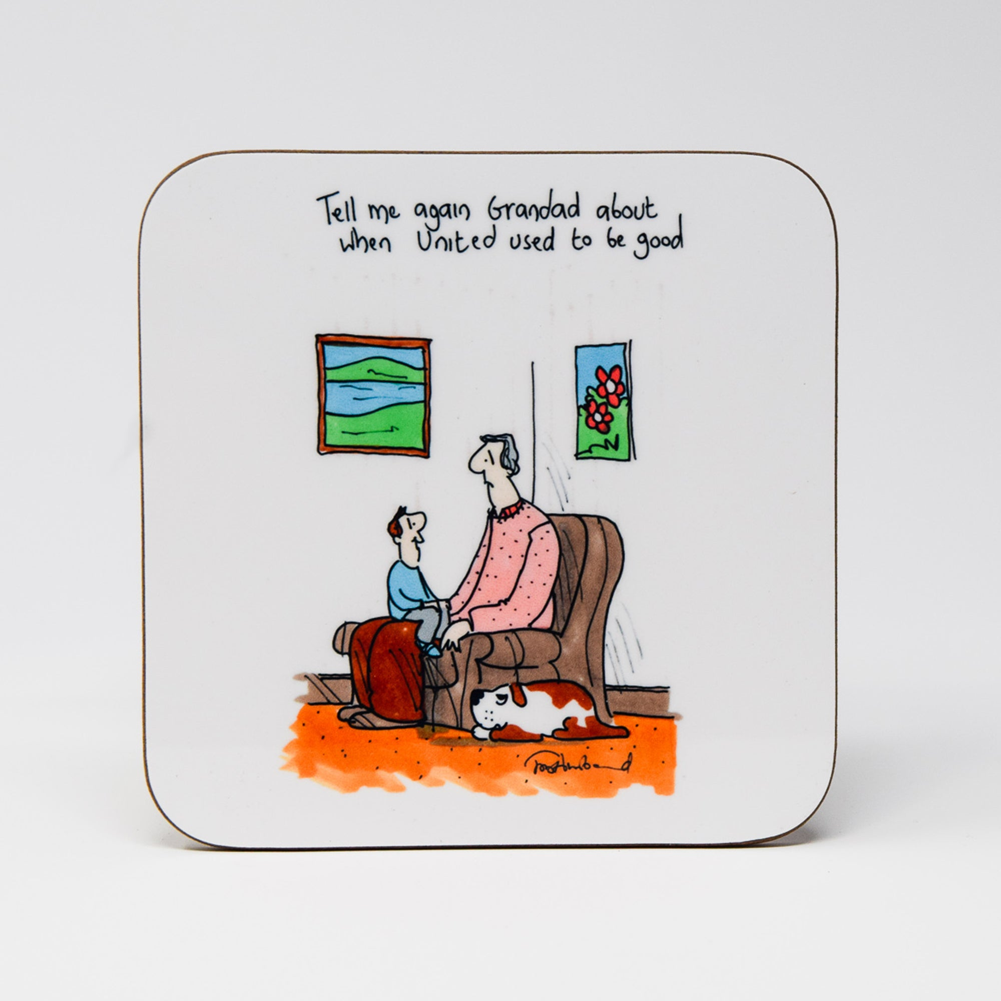 When United Used to be Good Coaster by Tony Husband