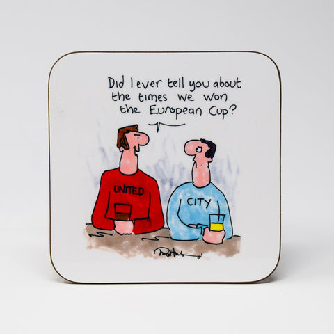 European Cup Coaster by Tony Husband
