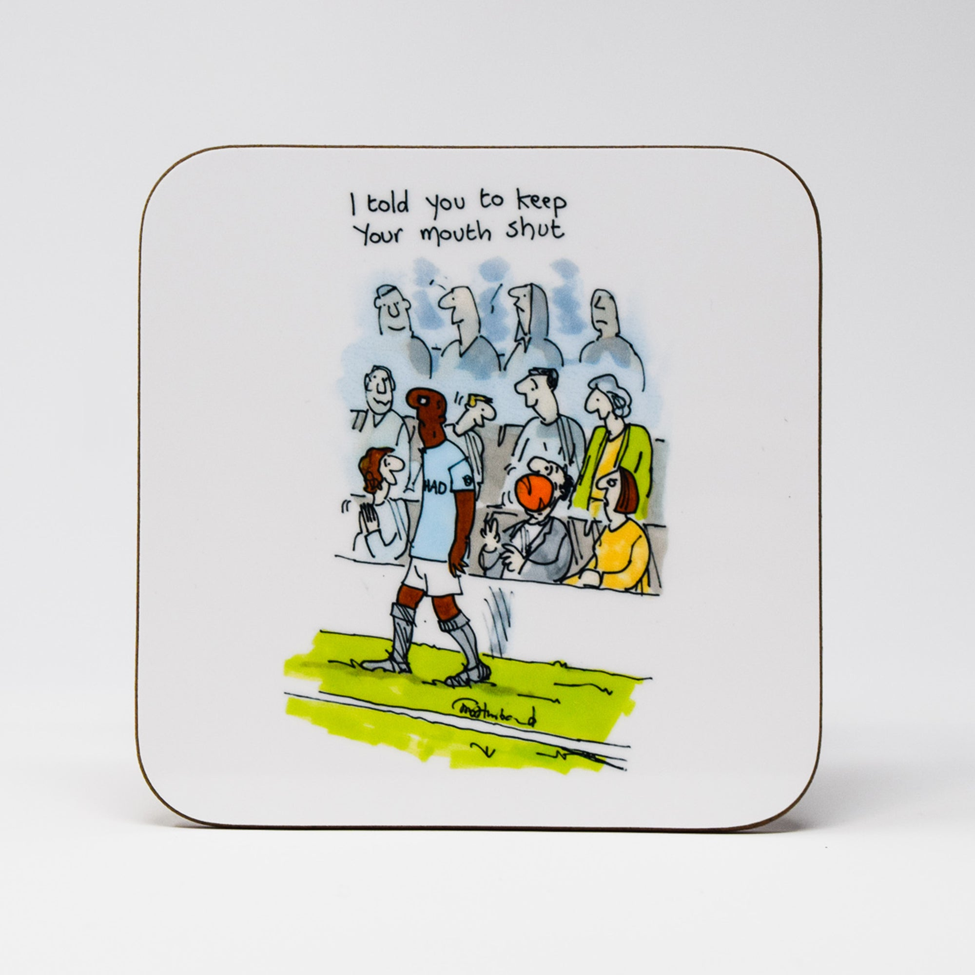 Ball in Mouth Coaster by Tony Husband