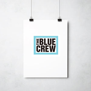 Blue Crew Print by This Charming Manc