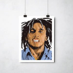 Bob Marley Print by This Charming Manc