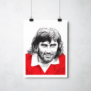George Best print by This Charming Manc