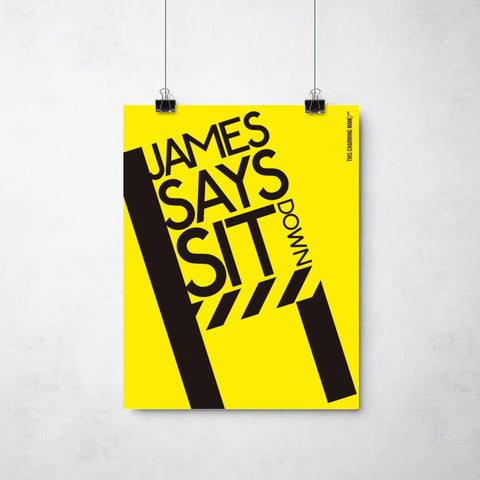 James Sit Down print by Ray Lancaster