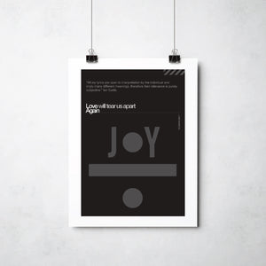 Joy Division Love Will Tear Us Apart print by This Charming Manc