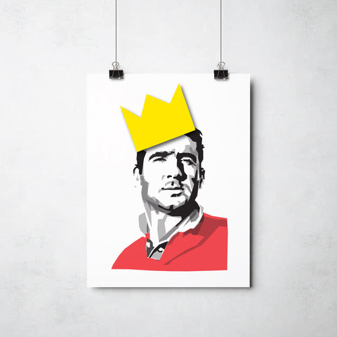 Eric Cantona print by This Charming Manc