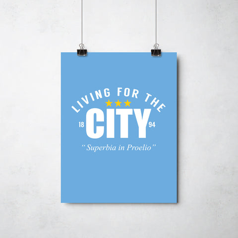 Living For the City  print by This Charming Manc