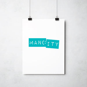 Manc City print by Ray Lancaster