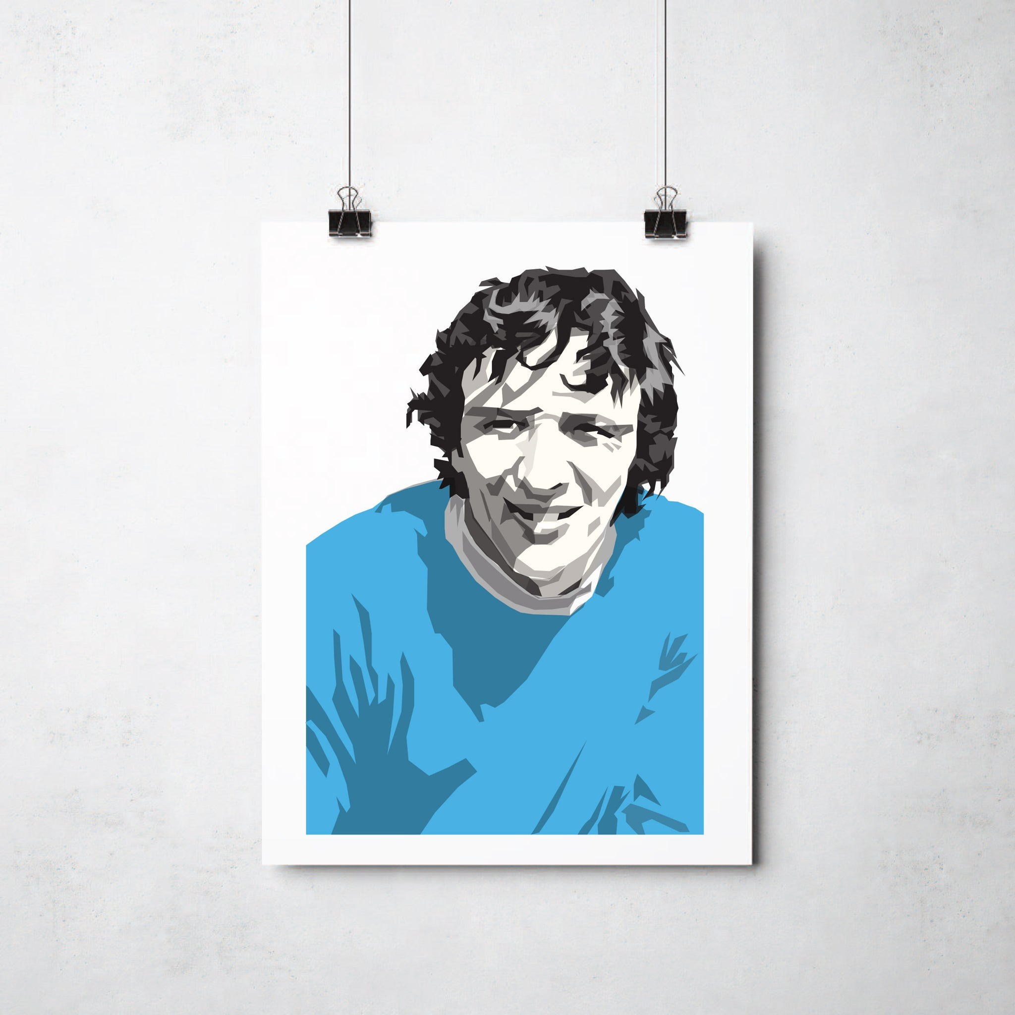 Mike Summerbee  print by This Charming Manc