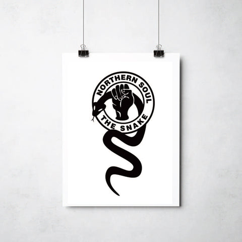 Northern Soul the Snake print by Ray Lancaster