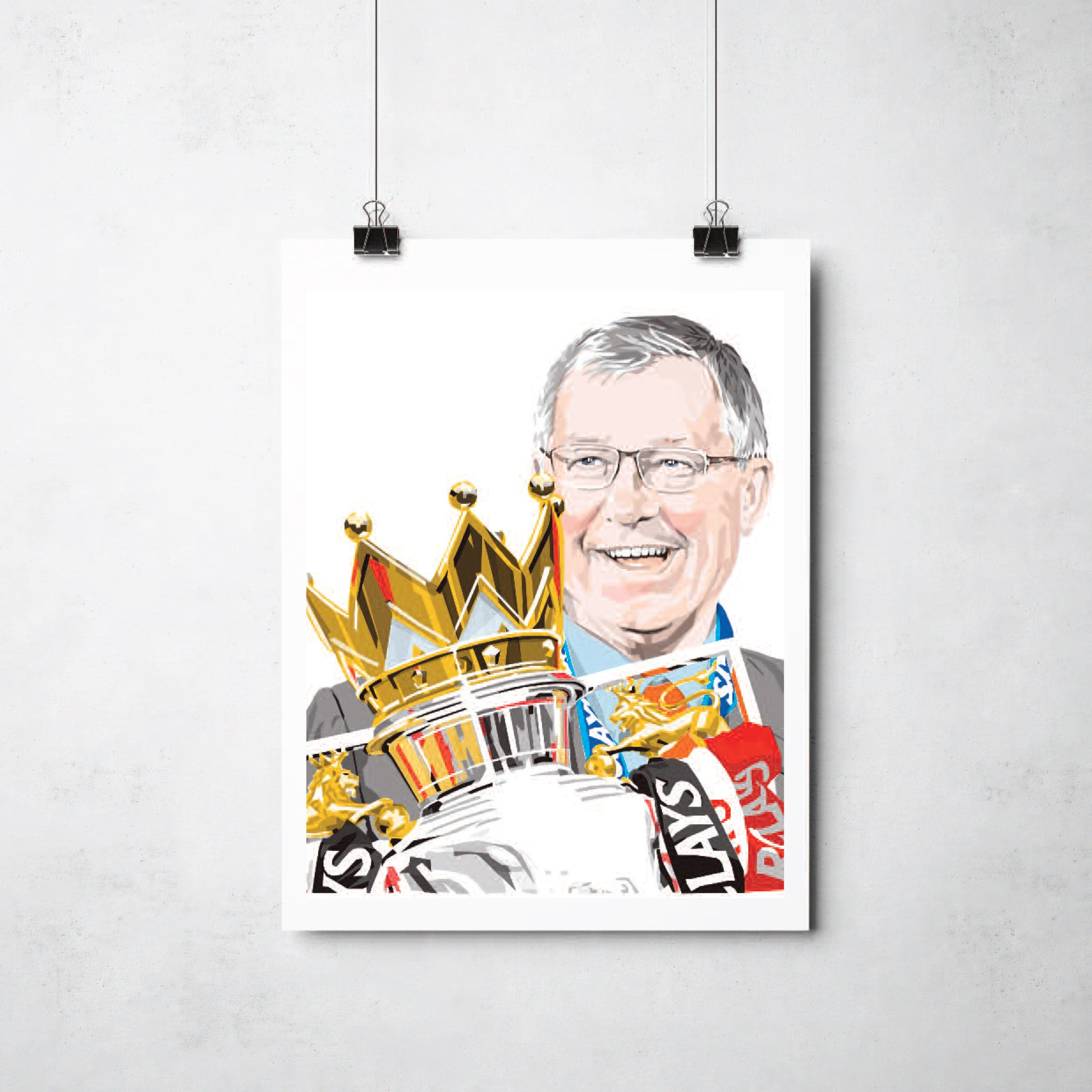 Alex Ferguson Print by This Charming Manc