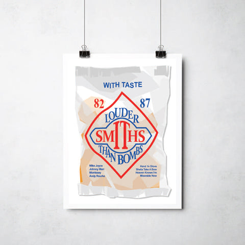 Smiths crisp packet print by Ray Lancaster