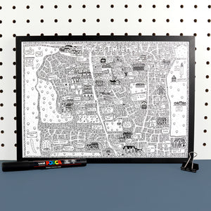 Prestwich Doodle Map Print by Dave Draws