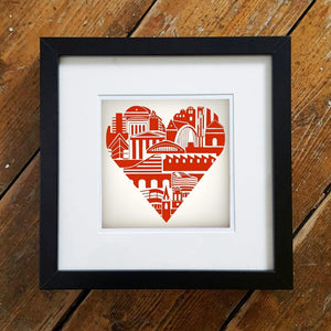 Manchester Heart Framed Print by S L Scott