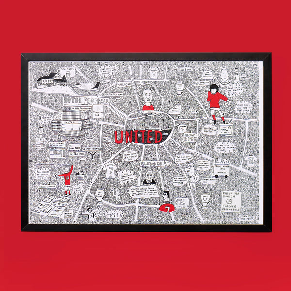 Manchester United Doodle Map by Dave Draws