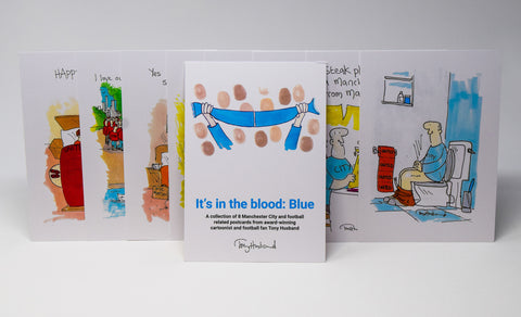 It's In The Blood Postcard Set - MCFC by Tony Husband