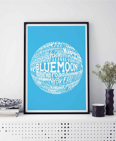 Manchester City Print by Sketchbook Design
