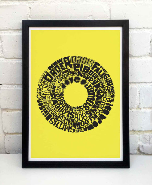 Manchester Music Print by Sketchbook Design