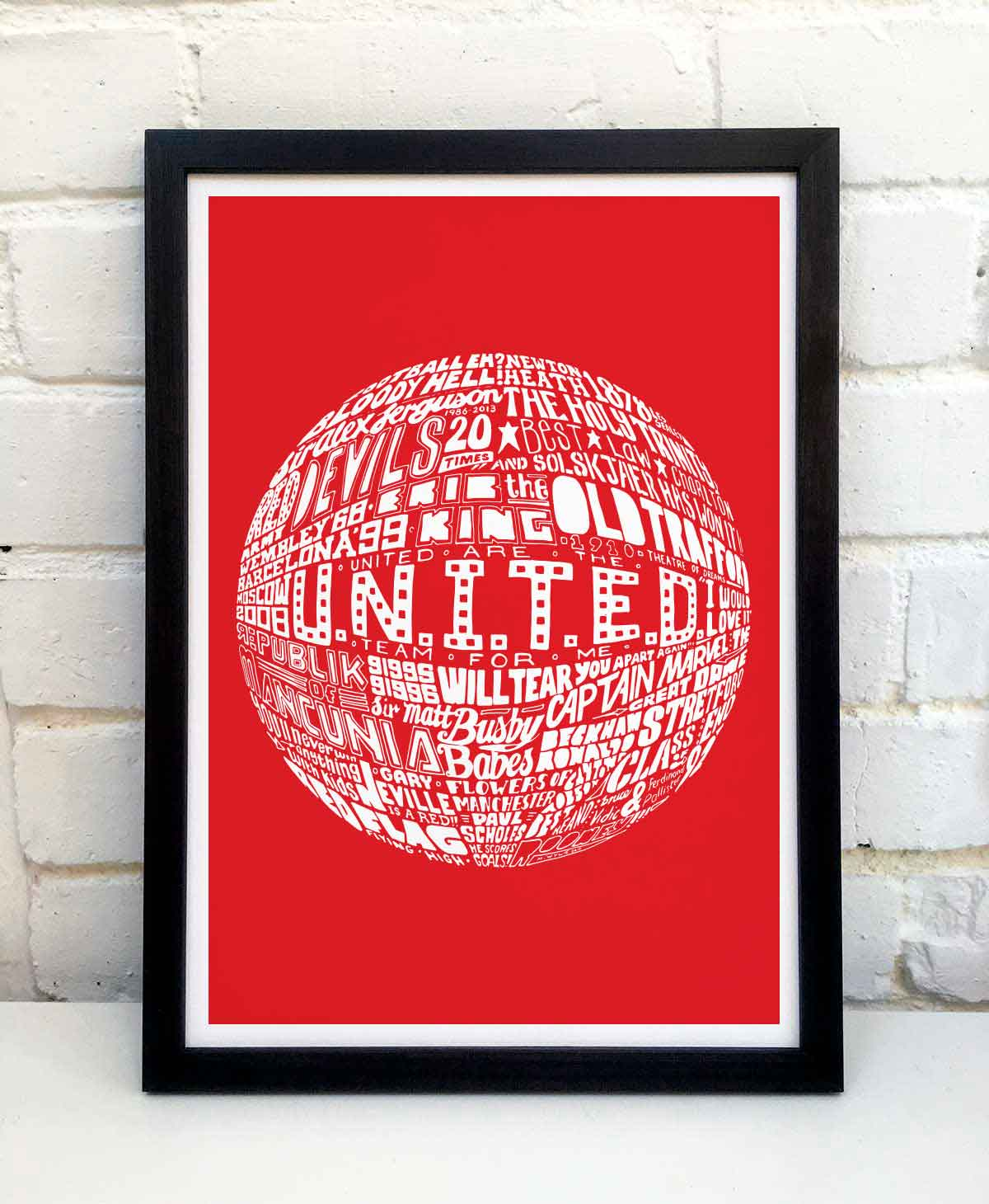 Manchester United Print by Sketchbook Design