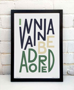 I Wanna Be Adored Print by Sketchbook Design
