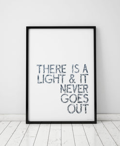 There is Light  Print by Sketchbook Design
