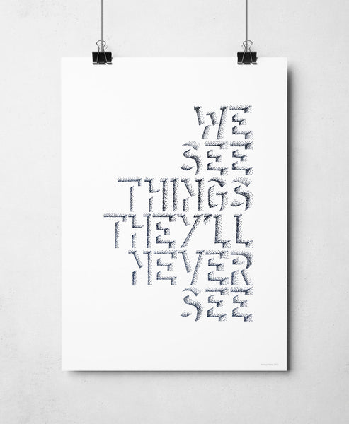 We See Things print by Sketchbook Design
