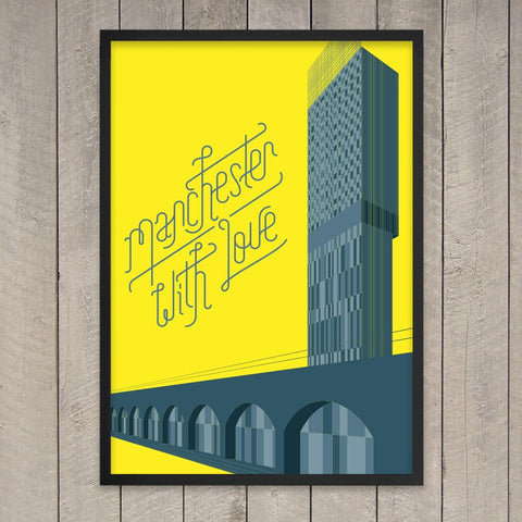 Manchester With Love Print - Stanley Chow & StudioDBD