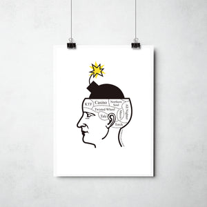 Blowing My Mind Print by This Charming Manc