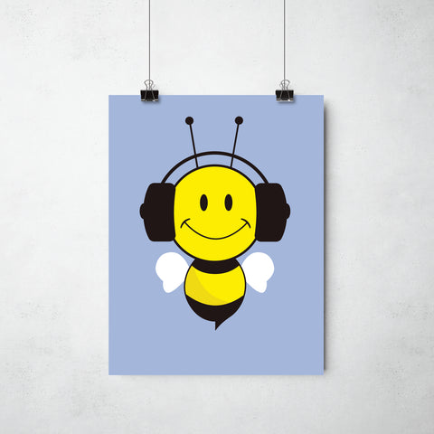 Buzzing Bee Print by This Charming Manc