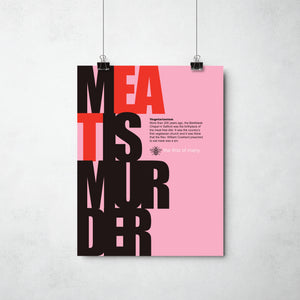 Meat is Murder - The Smiths print   by ThisCharmingManc.com