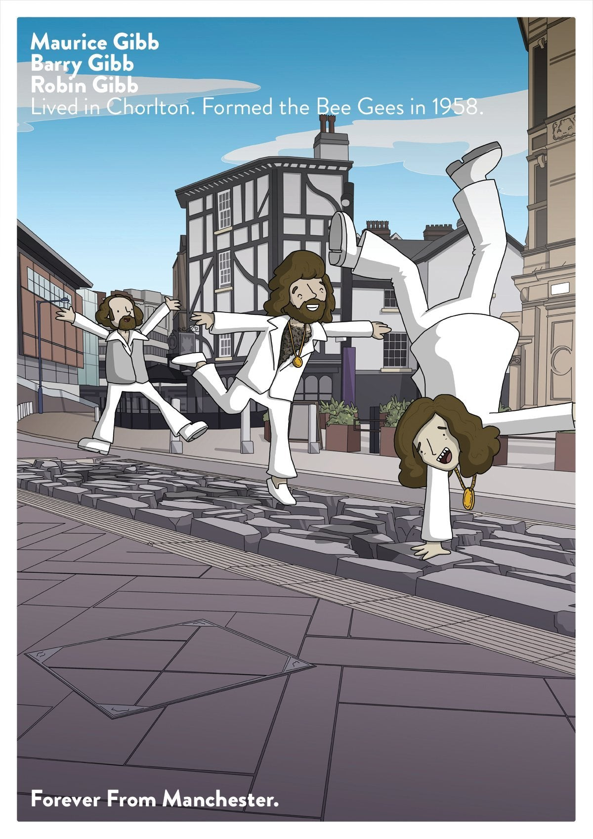 MANC-87 - Bee Gees A3 Poster Artwork