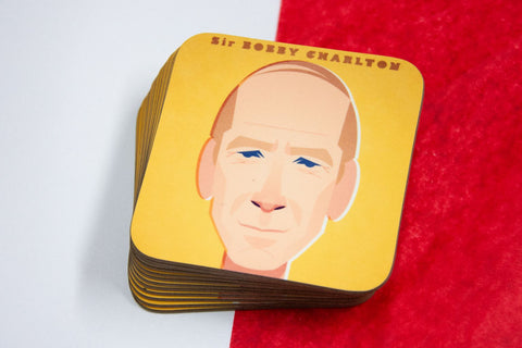 Sir Bobby Charlton Coaster Designed by Stanley Chow